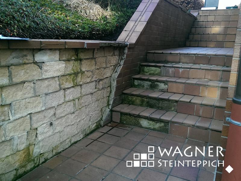 Treppe vorher - nachher